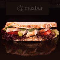 ساندویچ تست مرغ لبنانی