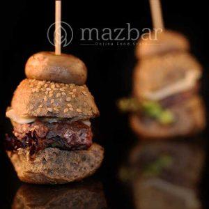 مینی قارچ برگر