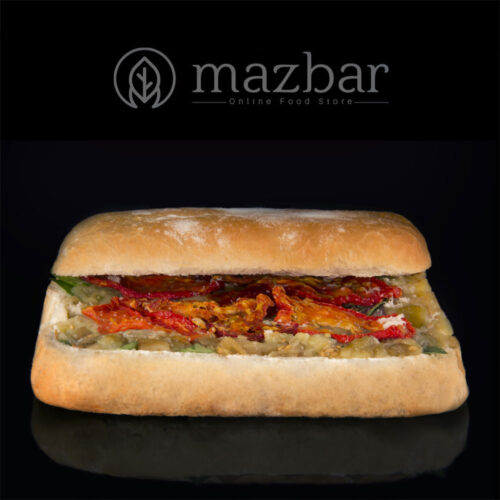 ساندویچ-چاپاتا-بادمجان-کبابی