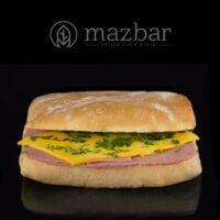 ساندویچ-چاپاتا-بوقلمون-خردل