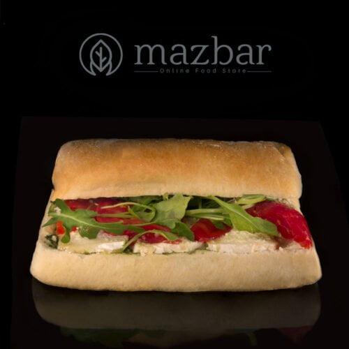ساندویچ-چاپاتا-کممبر-پستو