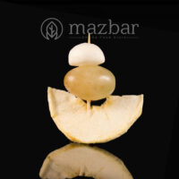 سیخ سیب انگور موزارلا